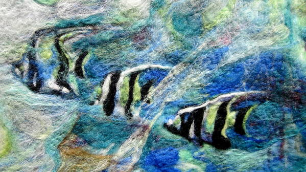 Felt Art Print featuring the tapestry - textile Detail Of Water by Kimberly Simon