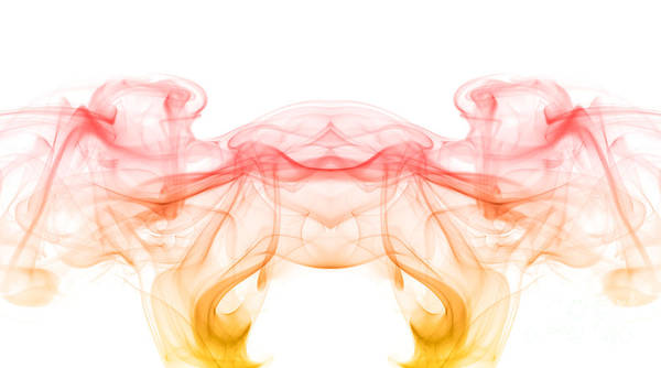 Abstract Art Print featuring the photograph painting with smoke XIII - mirrored by Joerg Lingnau