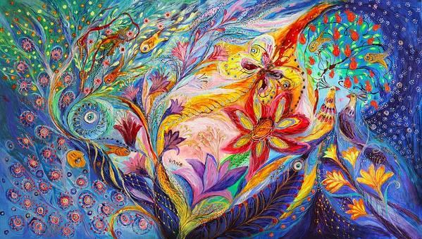 Modern Jewish Art Art Print featuring the painting Under The Wind by Elena Kotliarker