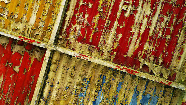 Abstract Art Print featuring the photograph 377 At 41 Series 6 by Skip Hunt