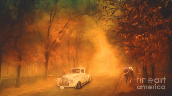 Autumn Art Print featuring the painting Autumn Evening by Jim Hatch