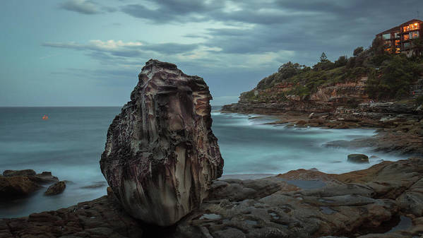 Bondi Beach Art Print featuring the photograph Balancing Rock Act by Jeffrey So
