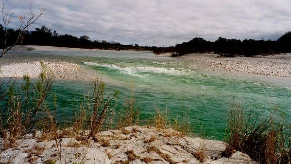 River Art Print featuring the photograph Blue River One by Ana Villaronga