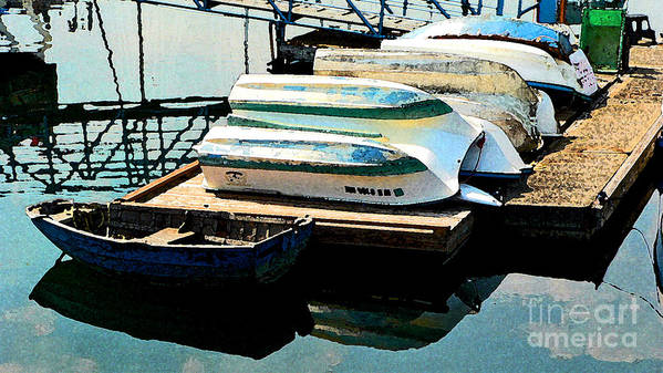 Boats Art Print featuring the photograph Boats In Waiting by Larry Keahey