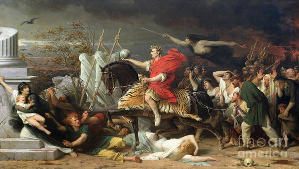 Caesar Art Print featuring the painting Caesar by Adolphe Yvon