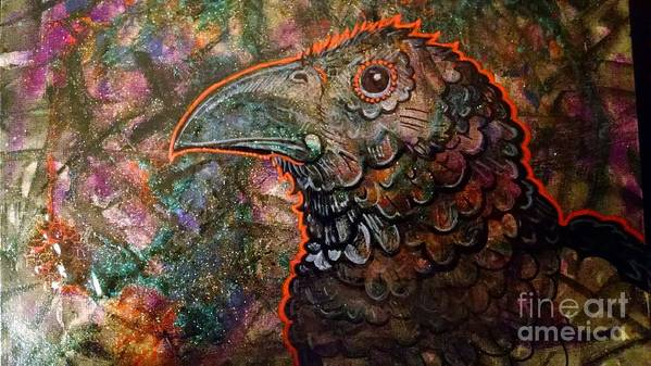 Art Print featuring the painting Candy Crow by Stewart Knight