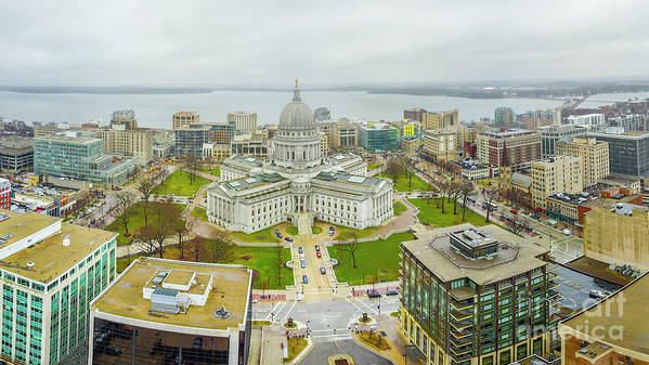 Madison Art Print featuring the photograph Capital Panoramic by Randy Kostichka