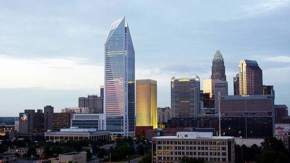 Charlotte Print featuring the photograph Charlotte Skyline by Tim Mattox