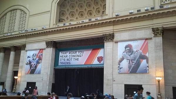 Chicago Art Print featuring the photograph Chicago Bears Union Station by Helen Orth