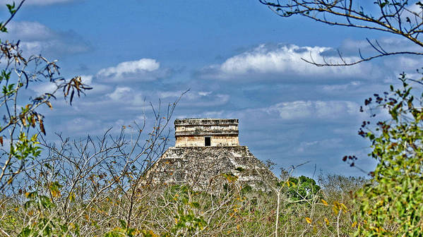Chichen Itza Art Print featuring the photograph Chichen Itza Sunny Side by Chris Brannen
