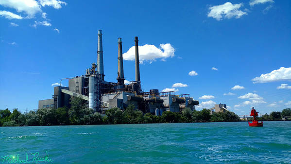 Dte Art Print featuring the photograph Dte River Rouge Power Plant by Michael Rucker