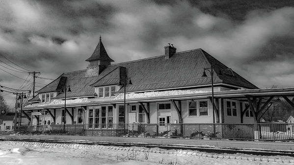 Art Print featuring the photograph Fort Edward Train Station by Kendall McKernon