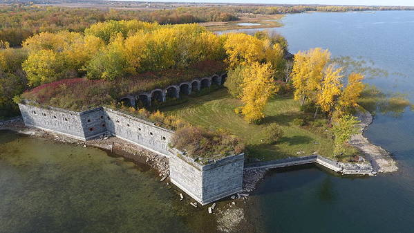 Fort Art Print featuring the photograph Fort Montgomery Fall by Jedidiah Thone