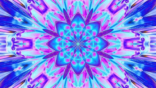 Digital Art Art Print featuring the digital art Fractal 13 by Belinda Cox