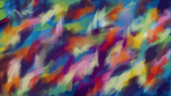 Abstraction Multicolored Art Print featuring the digital art Fresh Abstraction by Nadia Nova