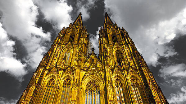 2010 Print featuring the photograph Golden Dome Of Cologne by Thomas Splietker