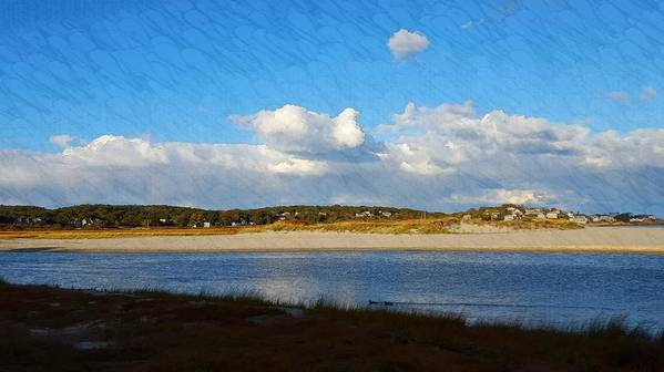Blue Sky Art Print featuring the photograph Good Harbor Serenity by Harriet Harding