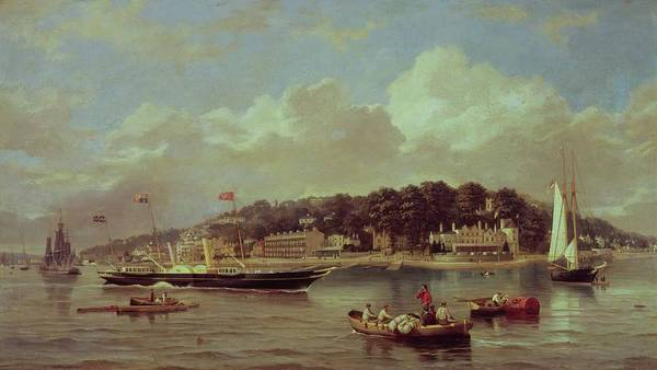 Hms Art Print featuring the painting Hm Yacht Victoria by George Gregory
