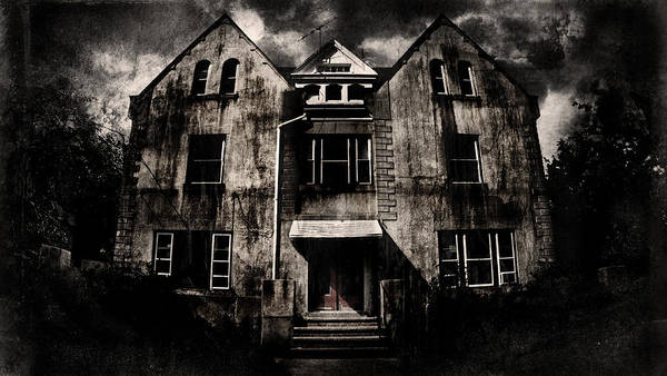 Haunted House Print featuring the digital art Home by Torgeir Ensrud