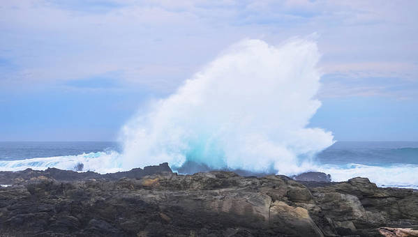 15 July 2013 Art Print featuring the photograph Huge Storms River Splash by Jeff at JSJ Photography