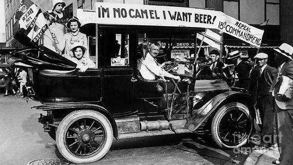 Prohibition Art Print featuring the photograph I Want Beer by Jon Neidert