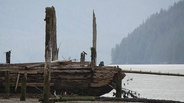 Wreckage Art Print featuring the photograph In The Mist by Kathleen Voort