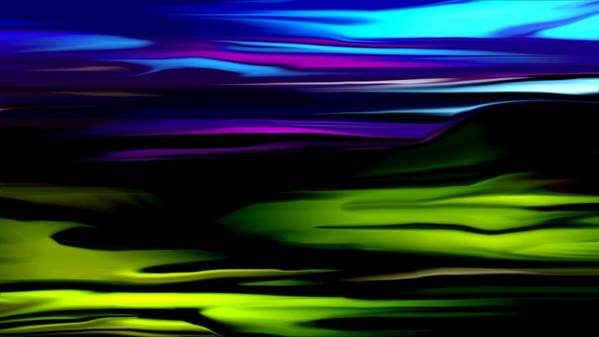 Abstract Expressionism Art Print featuring the digital art Landscape 8-05-09 by David Lane