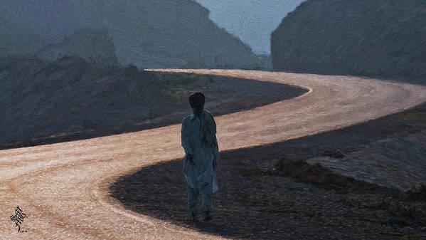 Lone Walk Art Print featuring the photograph Life's S Curves by Syed Muhammad Munir ul Haq