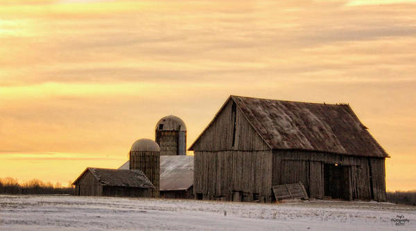 March Art Print featuring the photograph March Sunrise On The Farm by Peg Runyan