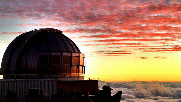 Stars Art Print featuring the photograph Mauna Kea Observatory Hawaii by Tara Roberts