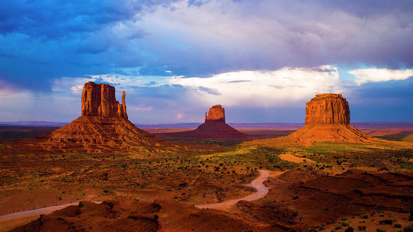 Monument Valley Art Print featuring the photograph Monument Valley by Radek Hofman