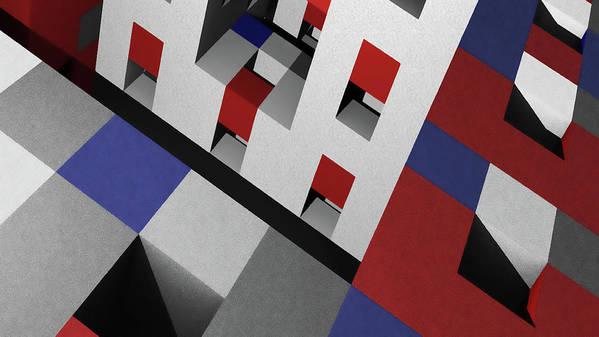 Offices Art Print featuring the digital art Offices by David BERNARD
