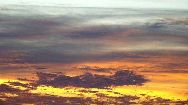 Sunrise Art Print featuring the photograph Painted Sky Two by Ana Villaronga