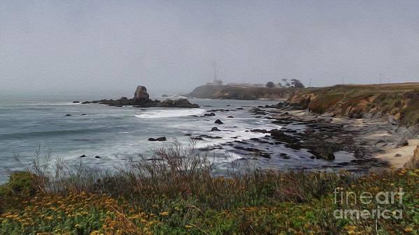 Point Montara Art Print featuring the photograph Point Montara Lighthouse by David Bearden