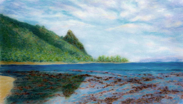 Rainbow Colors Pastel Art Print featuring the painting Reef Walk by Kenneth Grzesik
