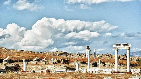 Greece Art Print featuring the photograph Ruins Of Delos by Linda Pulvermacher