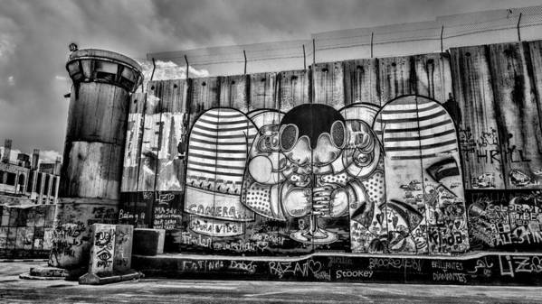 Graffiti Art Print featuring the photograph Separation by Stephen Stookey