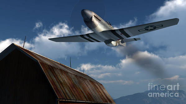 Aviation Art Print featuring the digital art Sightseeing by Richard Rizzo