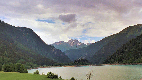 Alps Art Print featuring the photograph Sufnersee View by Steve Rudolph