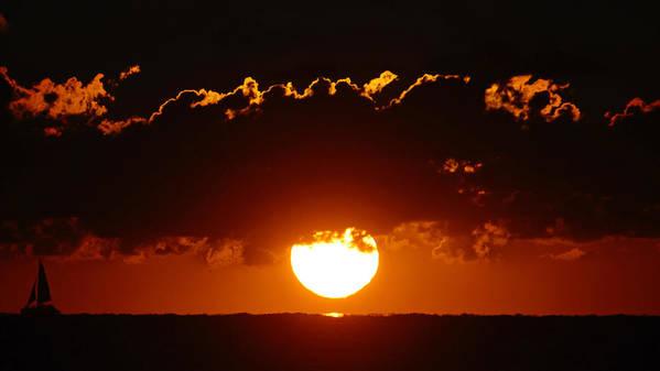 Sun Art Print featuring the photograph Sunrise Crown by Lawrence S Richardson Jr