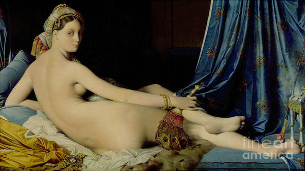 The Art Print featuring the painting The Grande Odalisque by Ingres