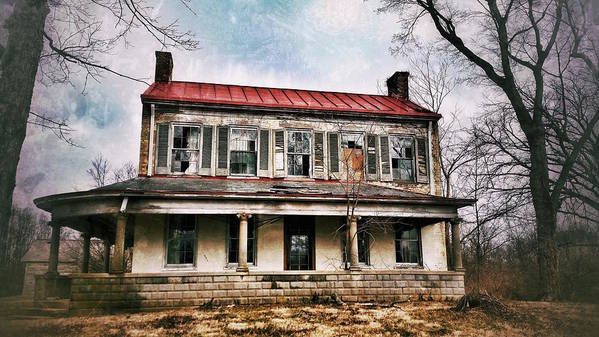 Old House Art Print featuring the photograph This Old House by Al Harden