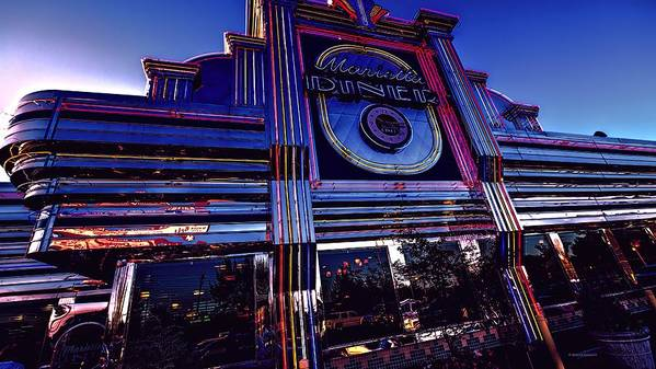 Diner's Art Print featuring the photograph Marietta Diner by Dennis Baswell