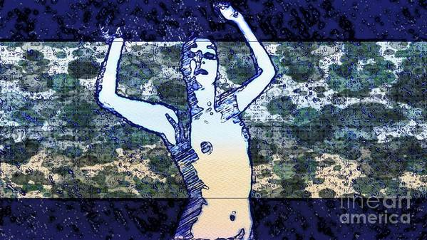 Woman Art Print featuring the mixed media Trance Girl No. 2 By Mary Bassett by Mary Bassett