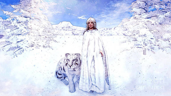 Winter Is Coming Art Print featuring the painting Winter Is Coming by Methune Hively