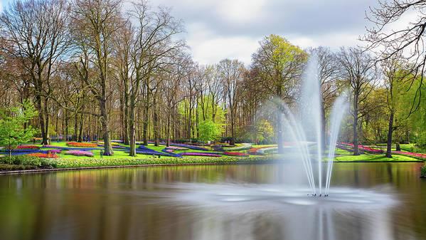 Flowers Art Print featuring the photograph Keukenhof Tulip Garden Holland by Nathan Bush