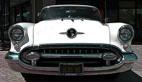 1955 Oldsmobile 88 Art Print featuring the photograph 1955 Oldsmobile 88 by Samuel Sheats