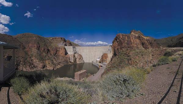 Dam  Art Print featuring the photograph Roosevelt Dam Arizona by Brian Lockett