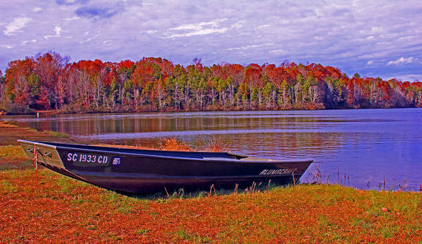 Landscape Art Print featuring the photograph Abandon Boat Ajsp by Andy Lawless