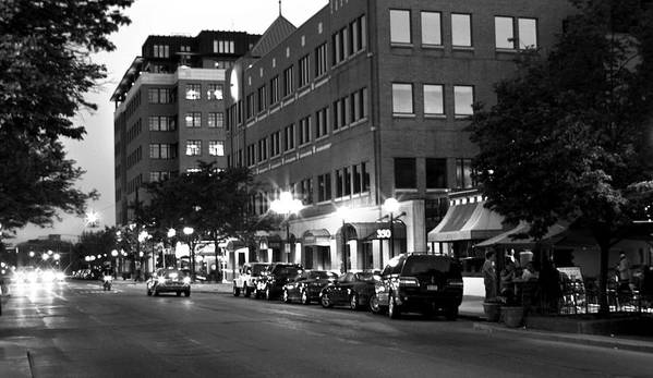 Ann Arbor Art Print featuring the photograph Ann Arbor Black And White by Pat Cook